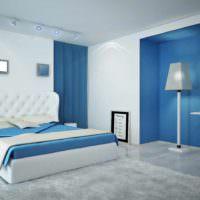 вариант необычного проекта стиля спальной комнаты фото