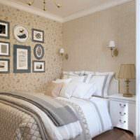 вариант необычного проекта стиля спальной комнаты картинка