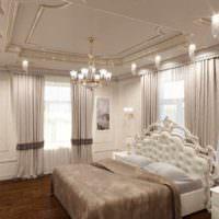 вариант яркого проекта дизайна спальной комнаты картинка