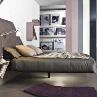 пример красивого проекта дизайна спальной комнаты фото