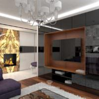 пример необычного стиля гостиной фото