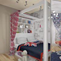 пример яркого дизайна детской комнаты для девочки фото