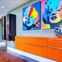 идея светлого декора комнаты в стиле поп арт картинка
