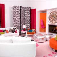 пример яркого дизайна квартиры в стиле поп арт фото