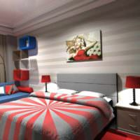 вариант красивого интерьера дома в стиле поп арт картинка