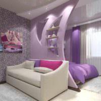 вариант яркого стиля гостиной 20 метров фото