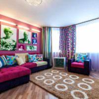 пример красивого интерьера дома в стиле поп арт картинка