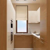 вариант яркого интерьера окна на кухне картинка