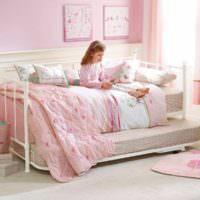 пример красивого интерьера детской комнаты для девочки фото
