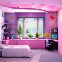 вариант необычного стиля спальни картинка