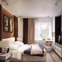 идея красивого оформления дизайна стен в спальне картинка