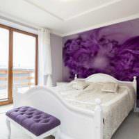 вариант красивого оформления декора стен в спальне фото