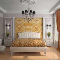 вариант светлого проекта стиля спальной комнаты картинка