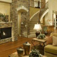 пример необычного дизайна лестницы картинка