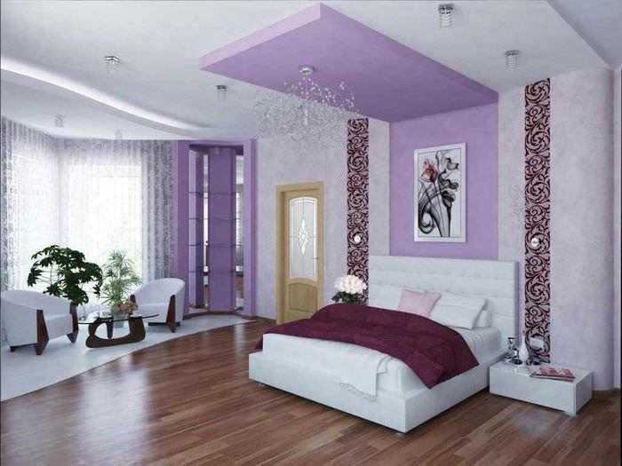 вариант красивого дизайна спальной комнаты