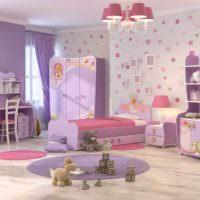 вариант яркого дизайна спальной комнаты фото