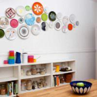 вариант светлой поделки для дизайна кухни картинка