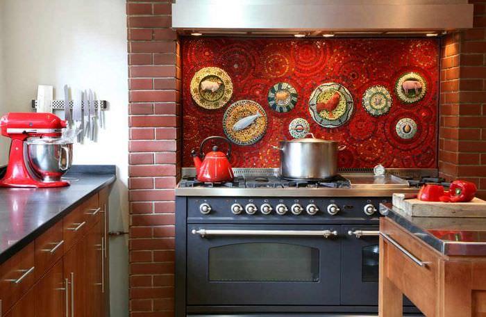 пример необычной поделки для стиля кухни