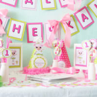 Декорирование бумажными гирляндами детской своими руками на день рождения ребенка
