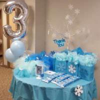 Праздничный стол на день рождения сына