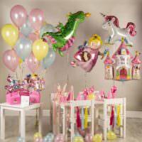 Воздушные шары в форме игрушек на день рождения ребенка