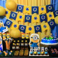 Оформление детской по мотивам мультфильмов для дня рождения