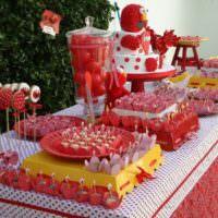 Сладости на столе в день рождения ребенка