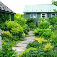 Ландшафтный дизайн садового участка в стиле дикой природы
