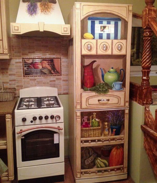 Декор холодильника своими руками как способ изменить интерьер кухни