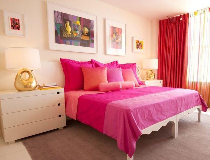 Оформление спальни своими руками в розовых тонах