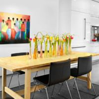 Живые цветы в декорировании кухни своими руками