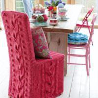 Обновление кухонных стульев с помощью чехлов
