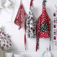 Текстильные принадлежности для декорирования кухни