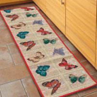 Напольный коврик из ткани для кухни