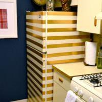 Оклейка холодильника на кухне своими руками