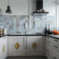 Декорирование фасадов кухонных шкафов наклейками