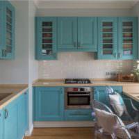 Крашенные фасады кухонного гарниткра