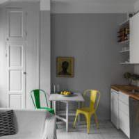 Окрашенные своими руками кухонные стулья