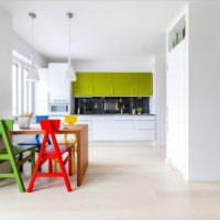 Самодельные стулья в декорировании кухни