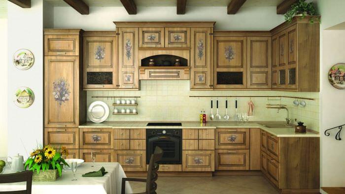 Декор кухонного гарнитура своими руками трафаретным орнаментом