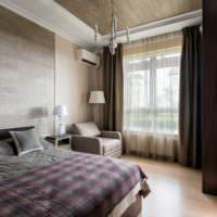 Оформление интерьера спальни с помощью ламината