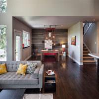 Красивый дизайн гостиной в частном доме