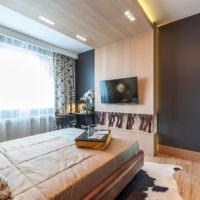 Красивая спальня в городской квартире