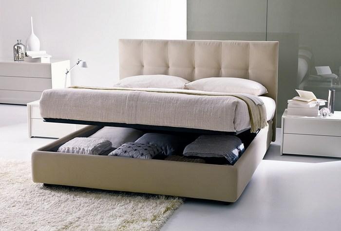 Раскладная кровать в интерьере квартиры-студии