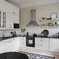 Светлая отделка современной кухни