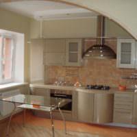 Арка в интерьере кухни-гостиной