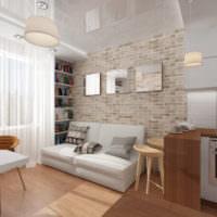 Уютная зона отдыха в совмещенной кухне