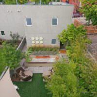 Планировка маленького сада современного загородного дома