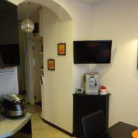 Интерьер малогабаритной кухни в однокомнатной квартире П44Т