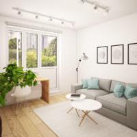 Дизайн жилой комнаты квартиры серии